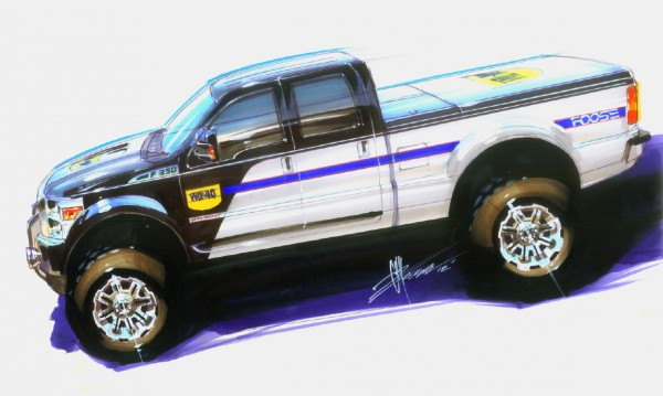 wd-40, chip foose, sema cares, icon vehicle dynamics Ford F-350 Super Duty Rendering